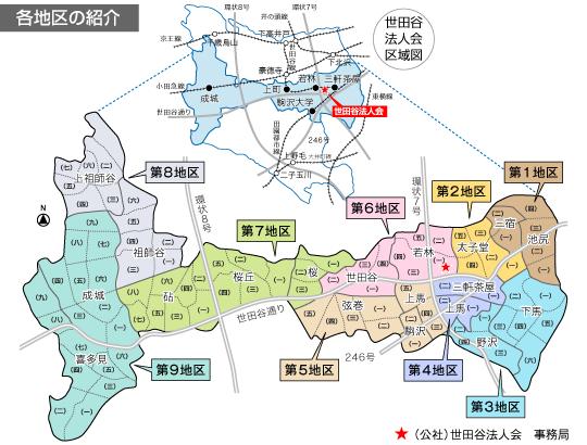 世田谷法人会地区(対象地域)紹...